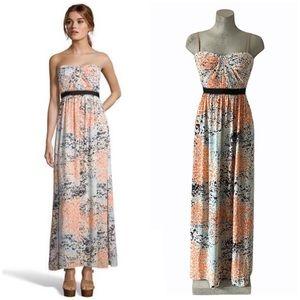BCBGMaxazria | Powder Combo Amber Cascade Gown